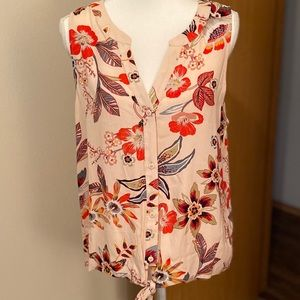 Sanctuary Tie Front Top in Desert Floral NWT